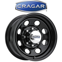 "Cragar Black Steel D Window Wheel 17/""x9/"" 8x6.5/"" BC"