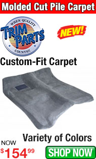 Trim Parts Molded Cut Pile Carpet