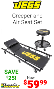JEGS Creeper and Air Seat Set