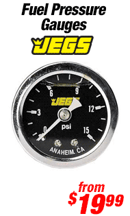 JEGS Performance Products Fuel Pressure Gauges