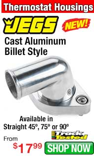 JEGS Cast Aluminum Billet Style Thermostat Housing