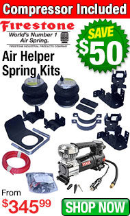 Firestone Air Helper Spring and Compressor Kits