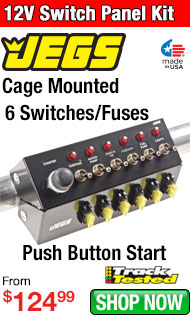 JEGS Cage Mounted 12V Switch Panel Kit