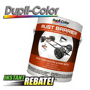 Up to $5 off Duplicolor Rust Barrier and $2 off Premium Undercoating