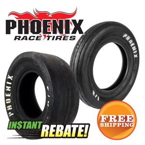 Save $40 off a pair of Phoenix Drag Tires