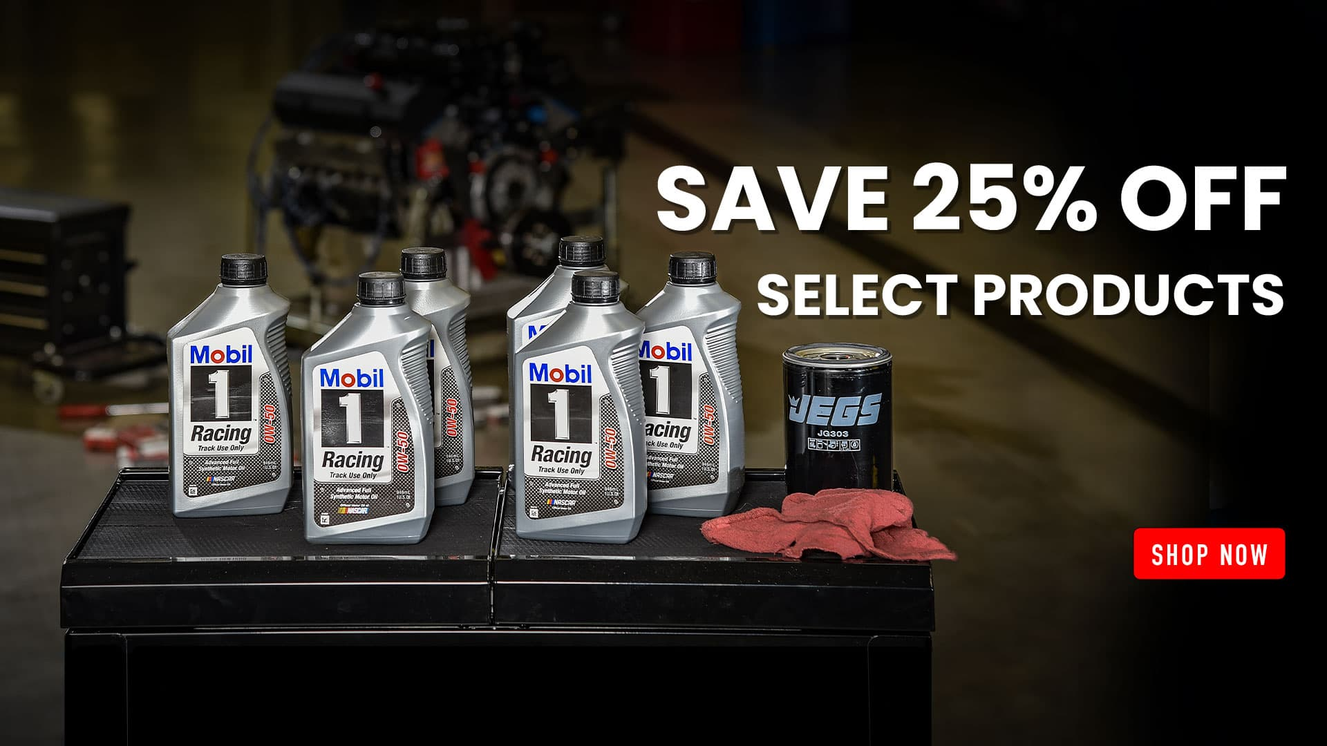 Save 25% off Select Mobil 1 Products