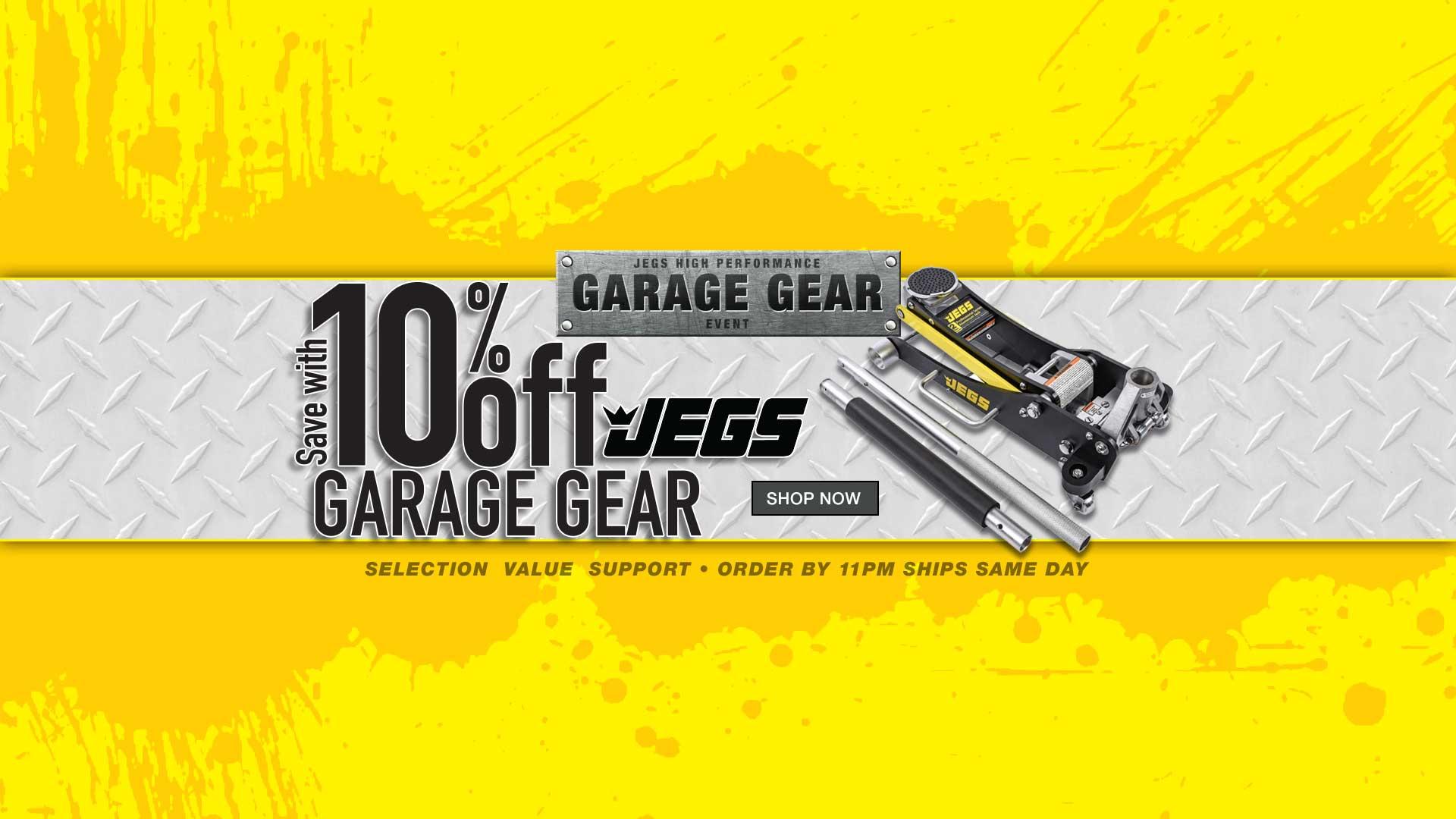 JEGS 10% off All Garage Gear