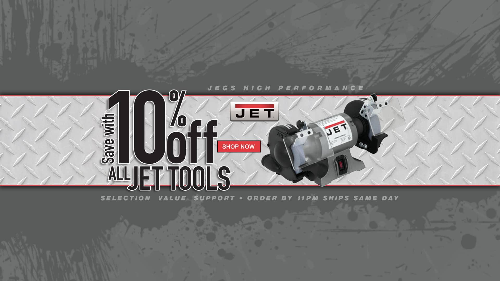 10% off all JET Tools
