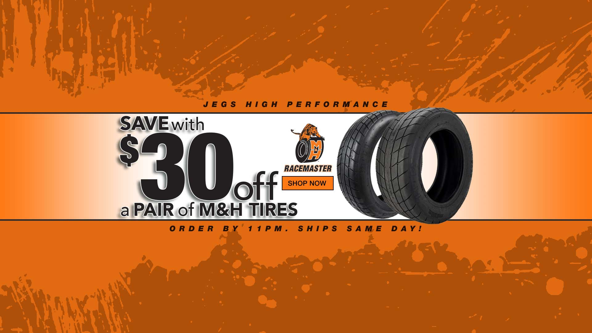 $30 off pair of M&H Tires