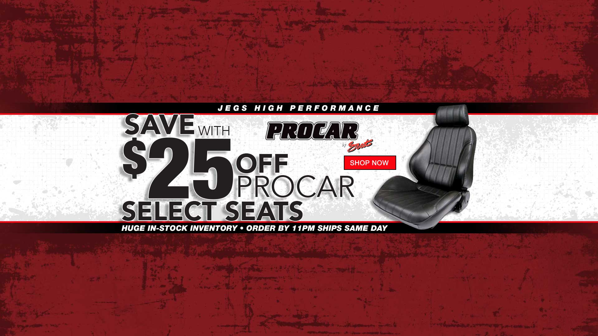 Save $25 off Select Procar Seats