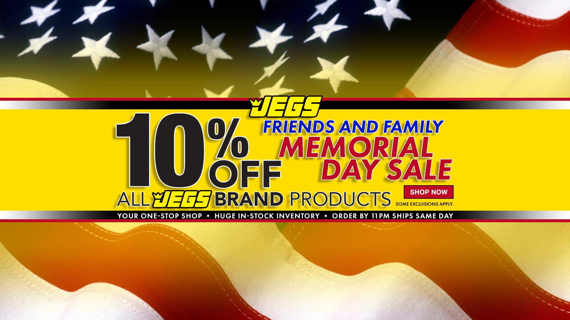 JEGS Friends and Family 10% off JEGS Brand