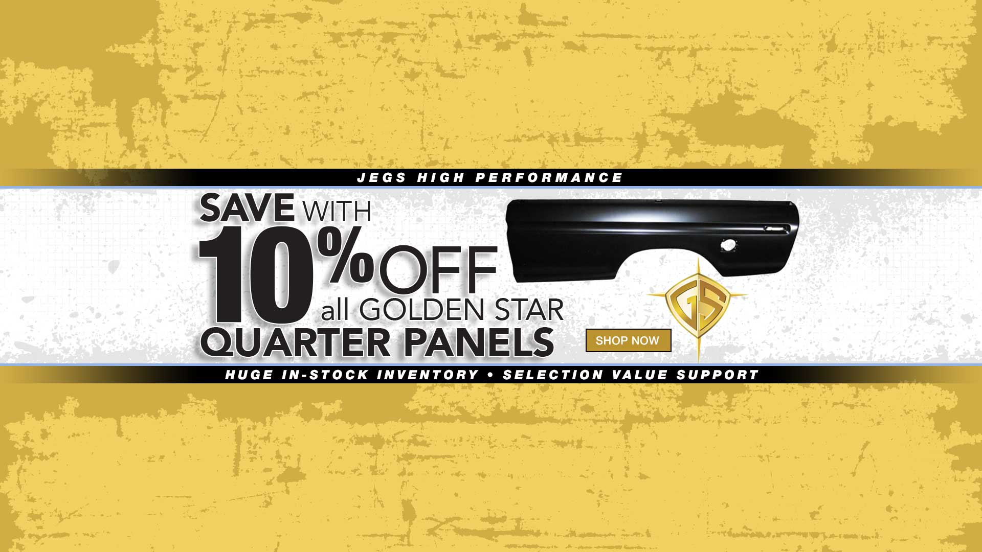 10% off Quarter Panels Golden Star