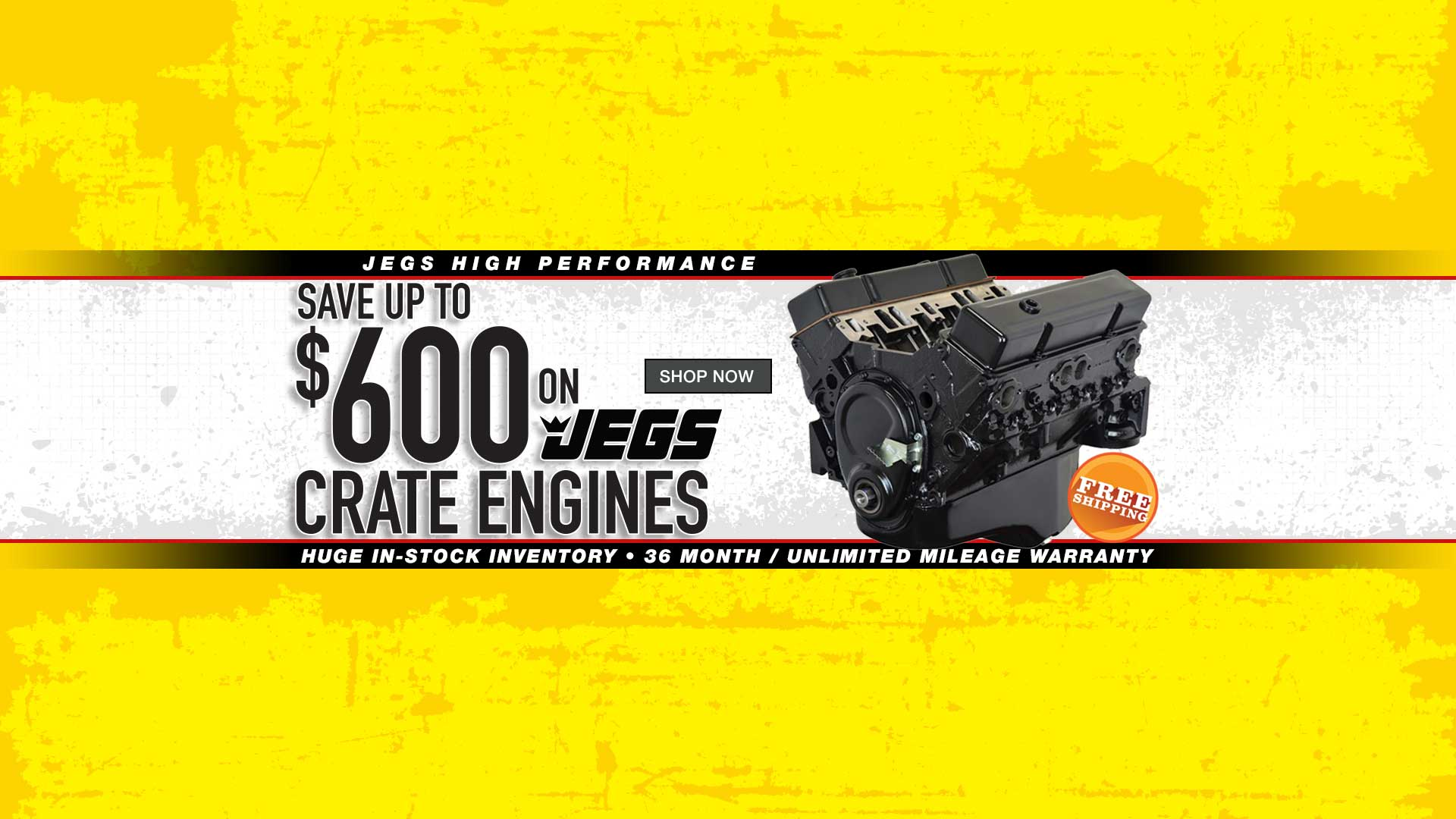 Save up to $600 on JEGS Crate Engines