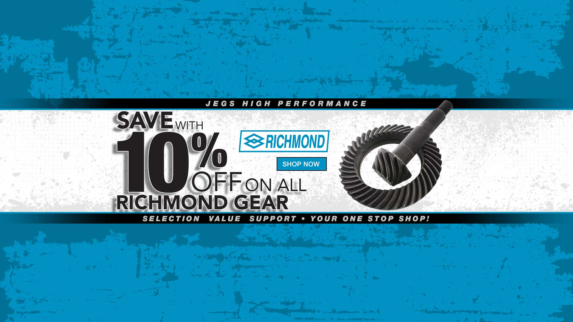 10% off Select Richmond Gear products