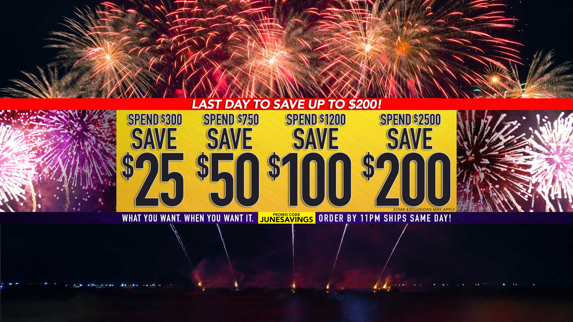 $25 off $300, $50 off $750, $100 off $1,200, $200 off $2,500 – Use Promo Code JUNESAVINGS
