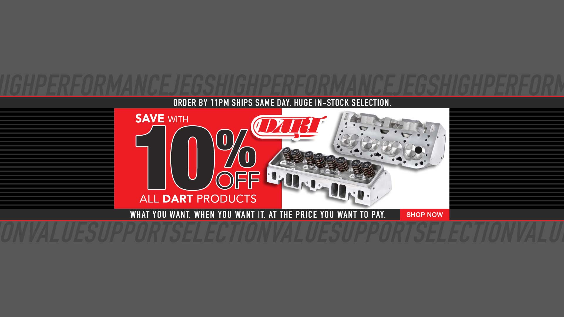 10% Off All Dart Products