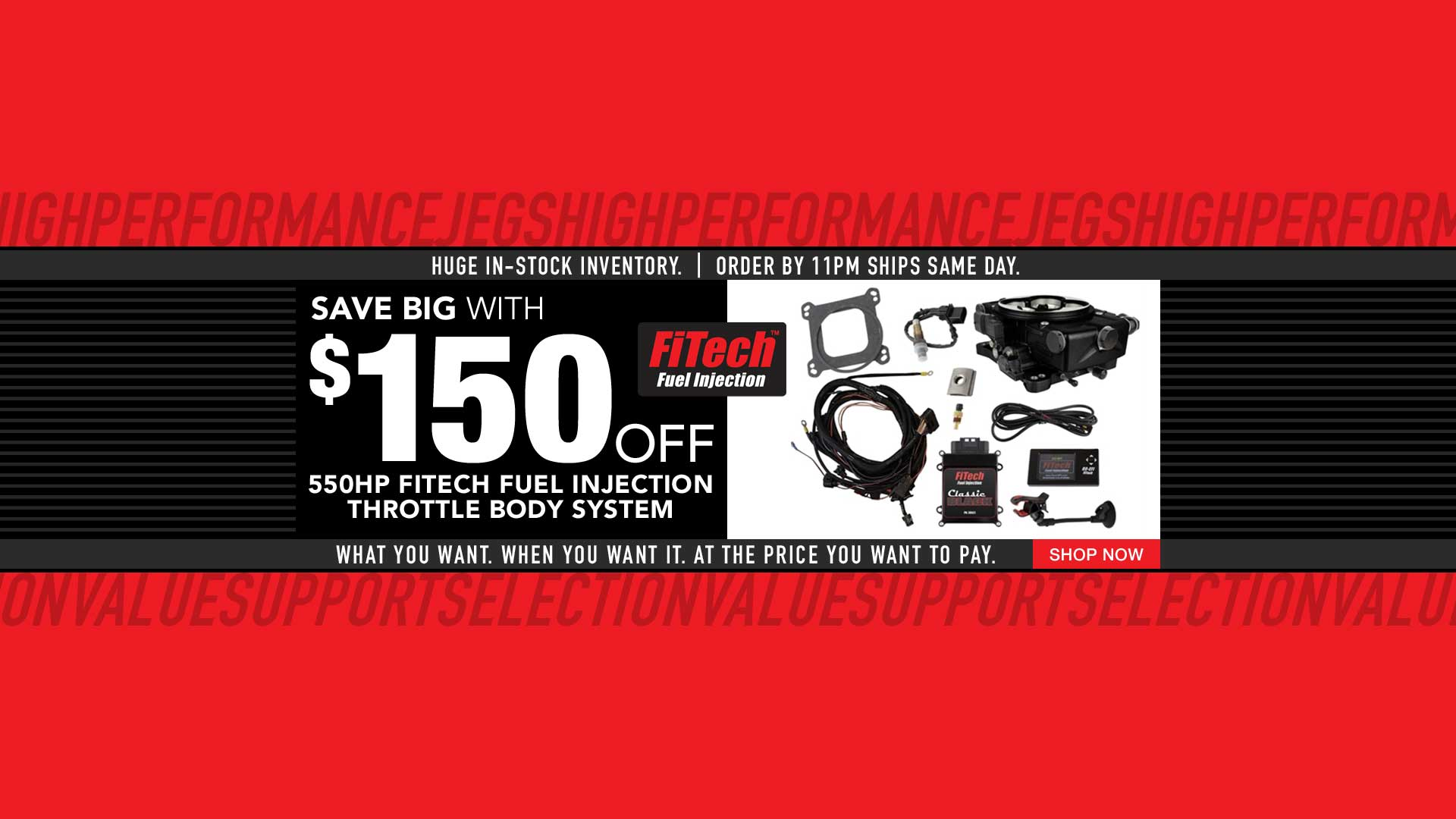 fitech save $150 off 550 hp efi classic black throttle body system
