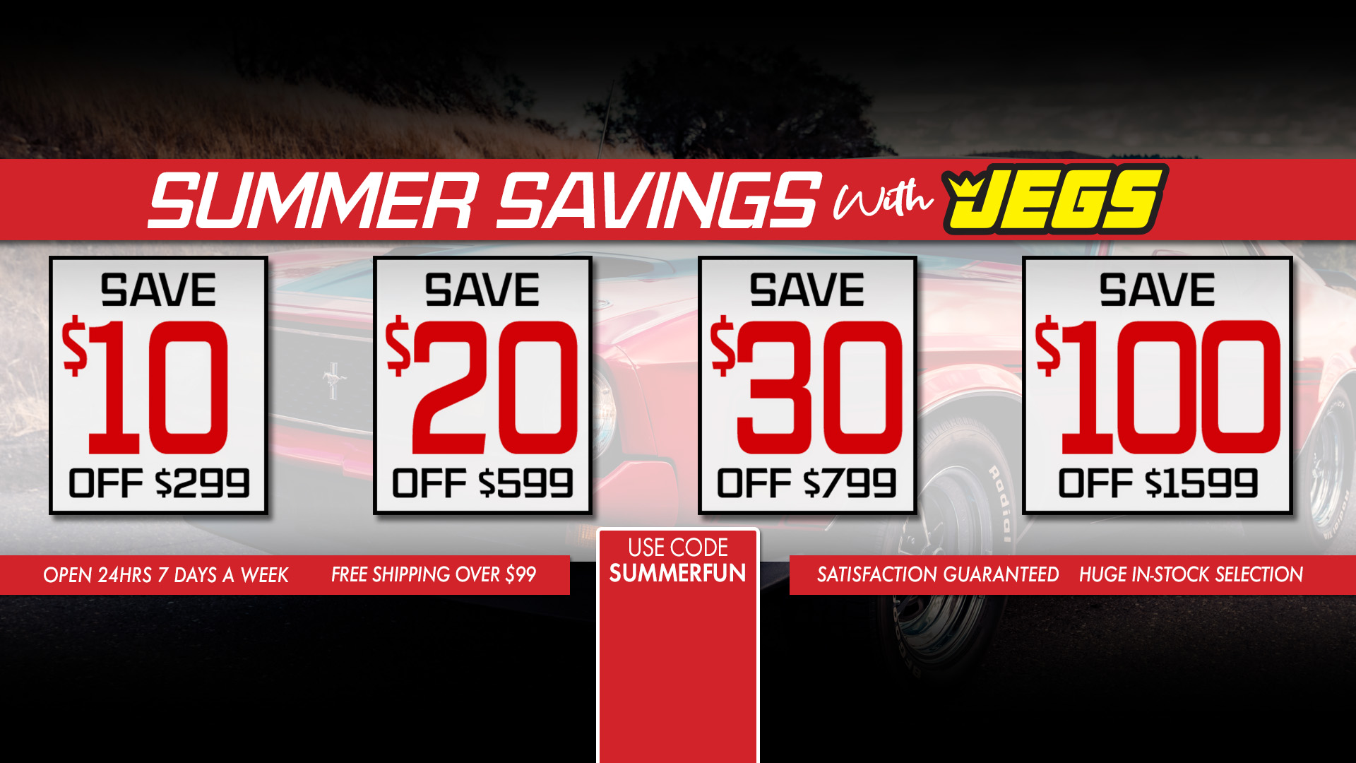 Save $10 off $299, $20 off $599, $30 off $799, $100 off $1,599 - Promo Code SUMMERFUN
