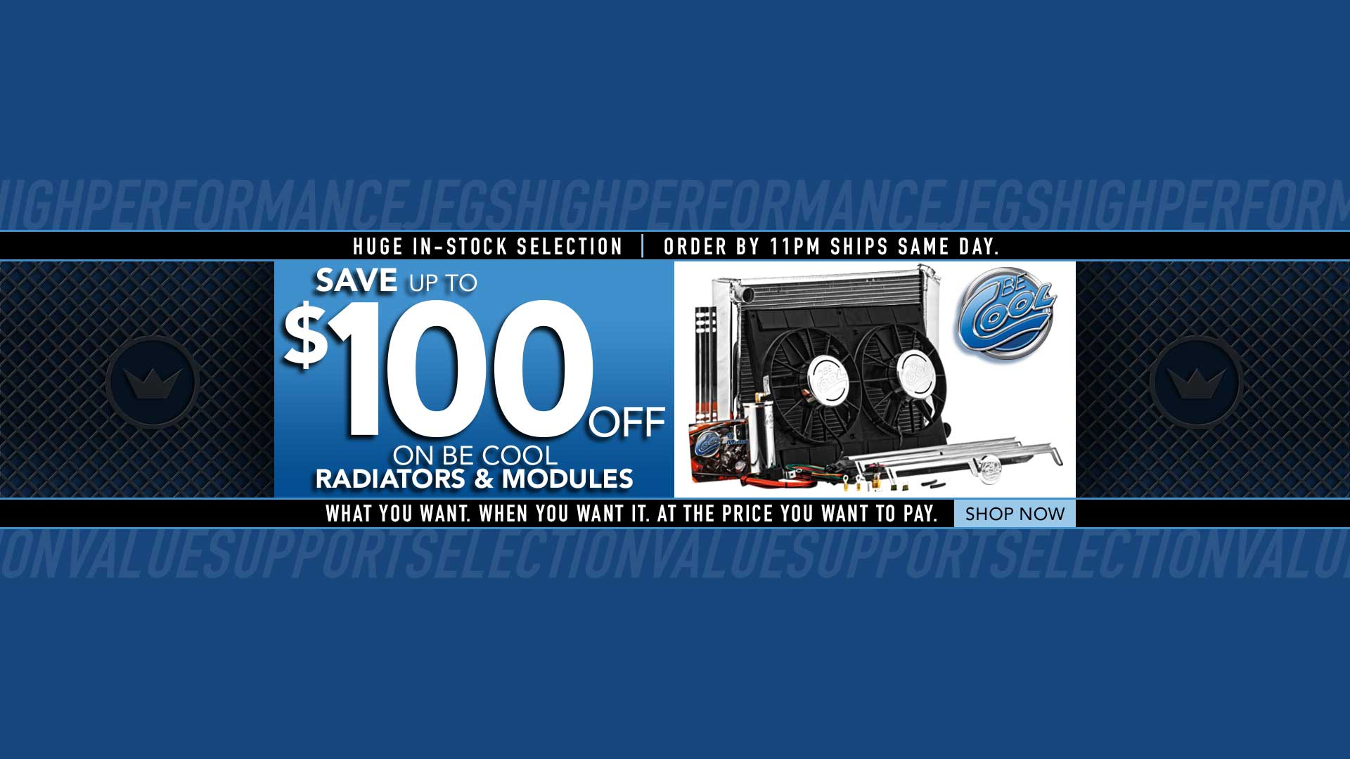 Save $100 off BeCool Modules and $50 off Radiators