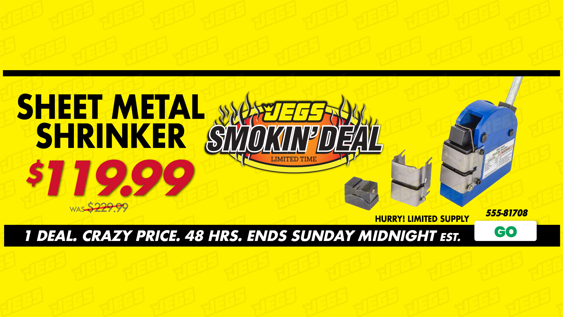 JEGS Smokin' Deal - JEGS Work Platform Deal. Crazy Price. 2-days Ends Sunday Midnight EST.