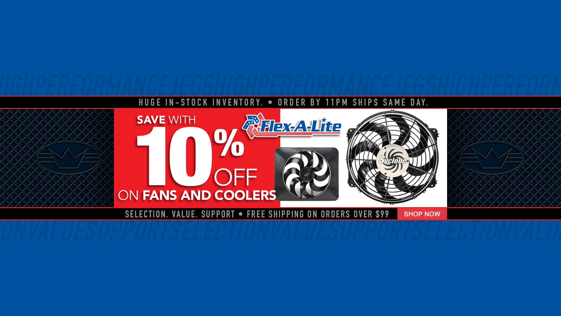 10% off Flex-A-Lite Fans and Oil Transmission Coolers