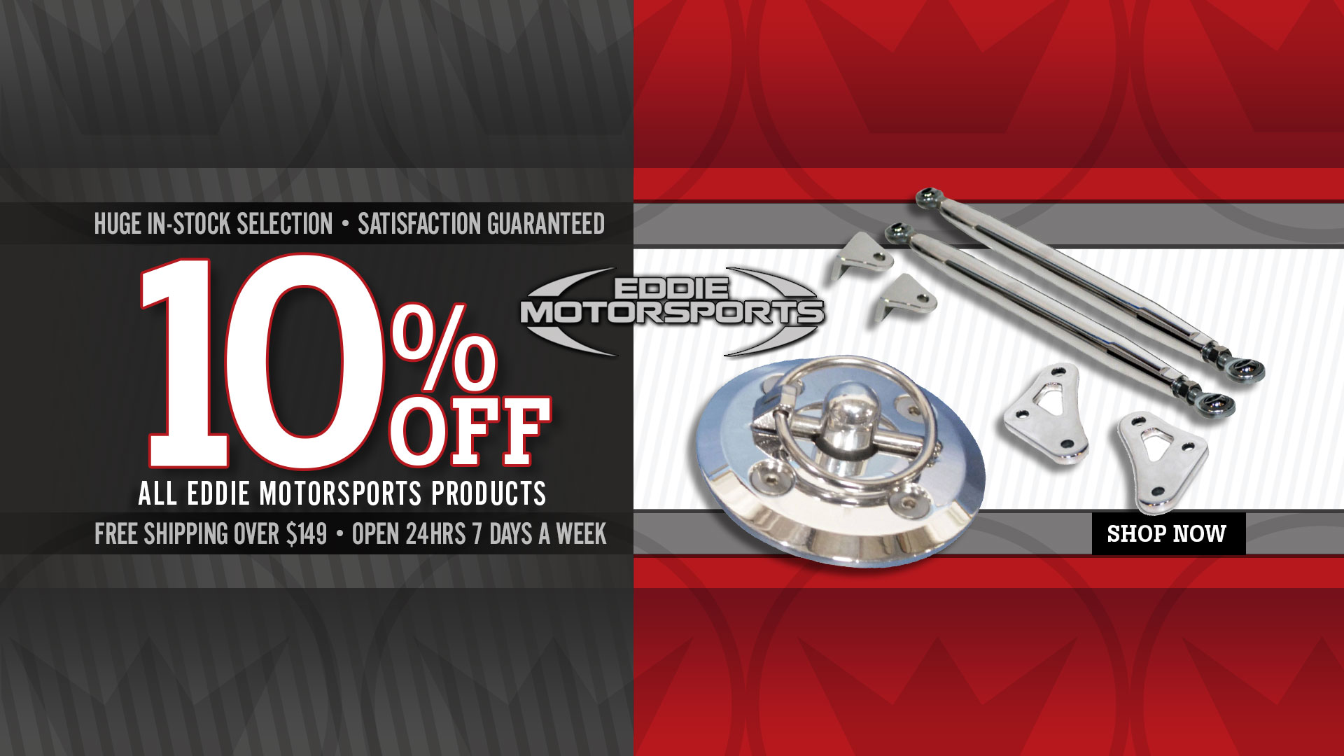 Save 10% on All Eddie Motorspots Products