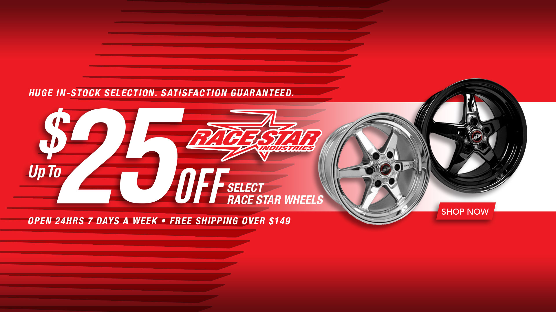 Save up to $25 on Select Race Star Wheels