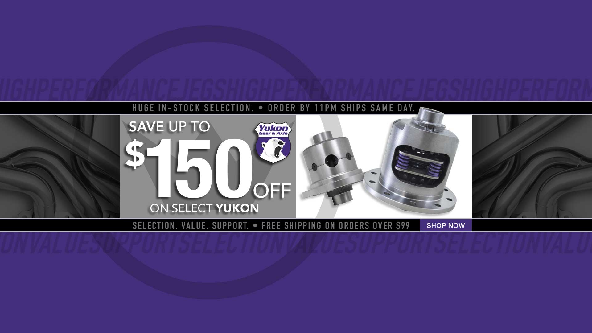 Save up to $150 off Yukon Gear Products