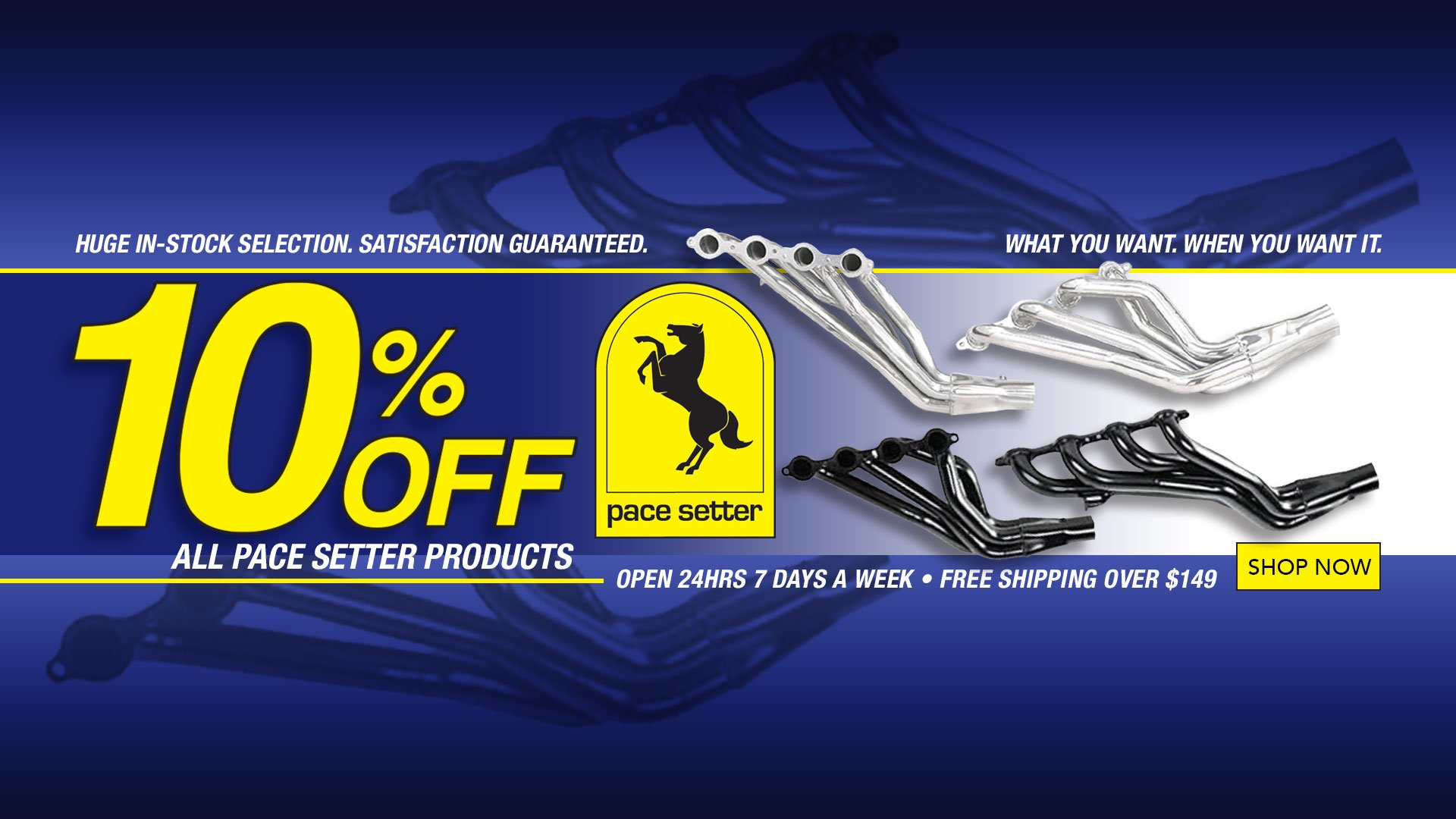 Save 10% on ALL Pace Setter Products