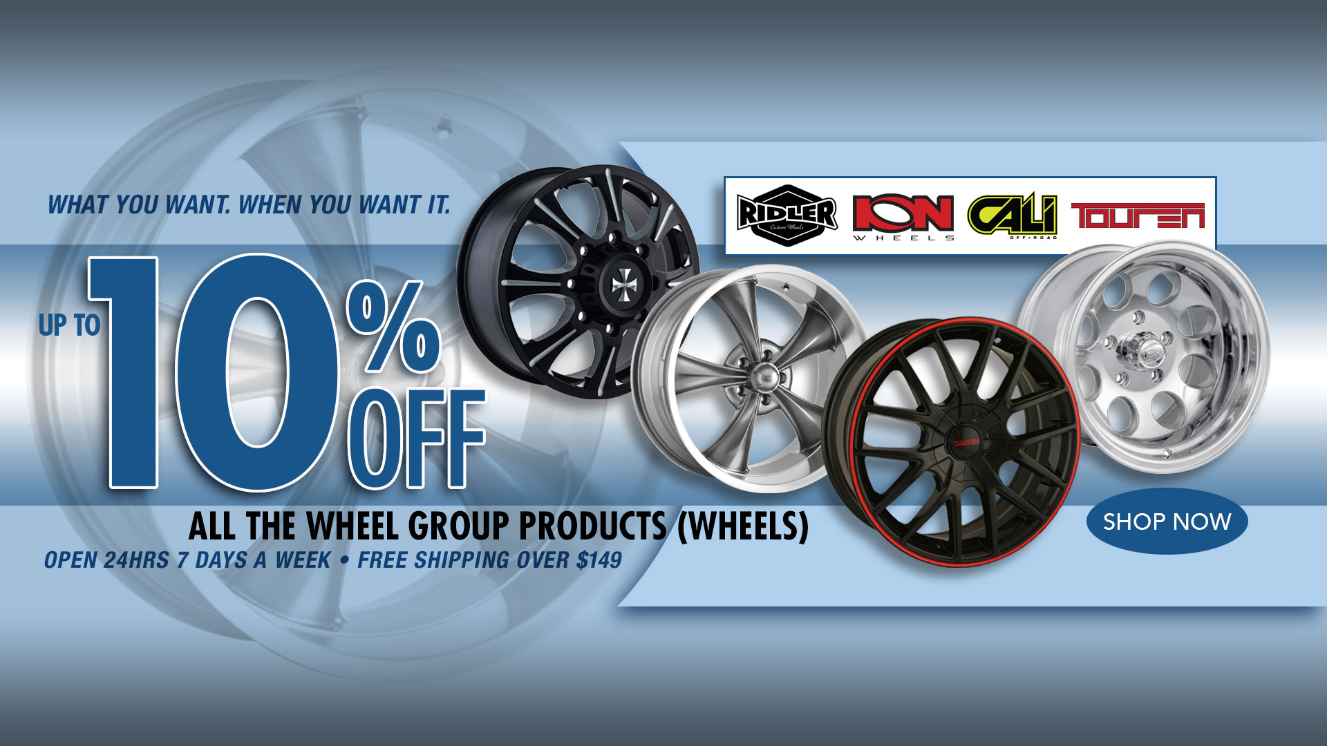 Save up to 10% on ALL The Wheel Group Products