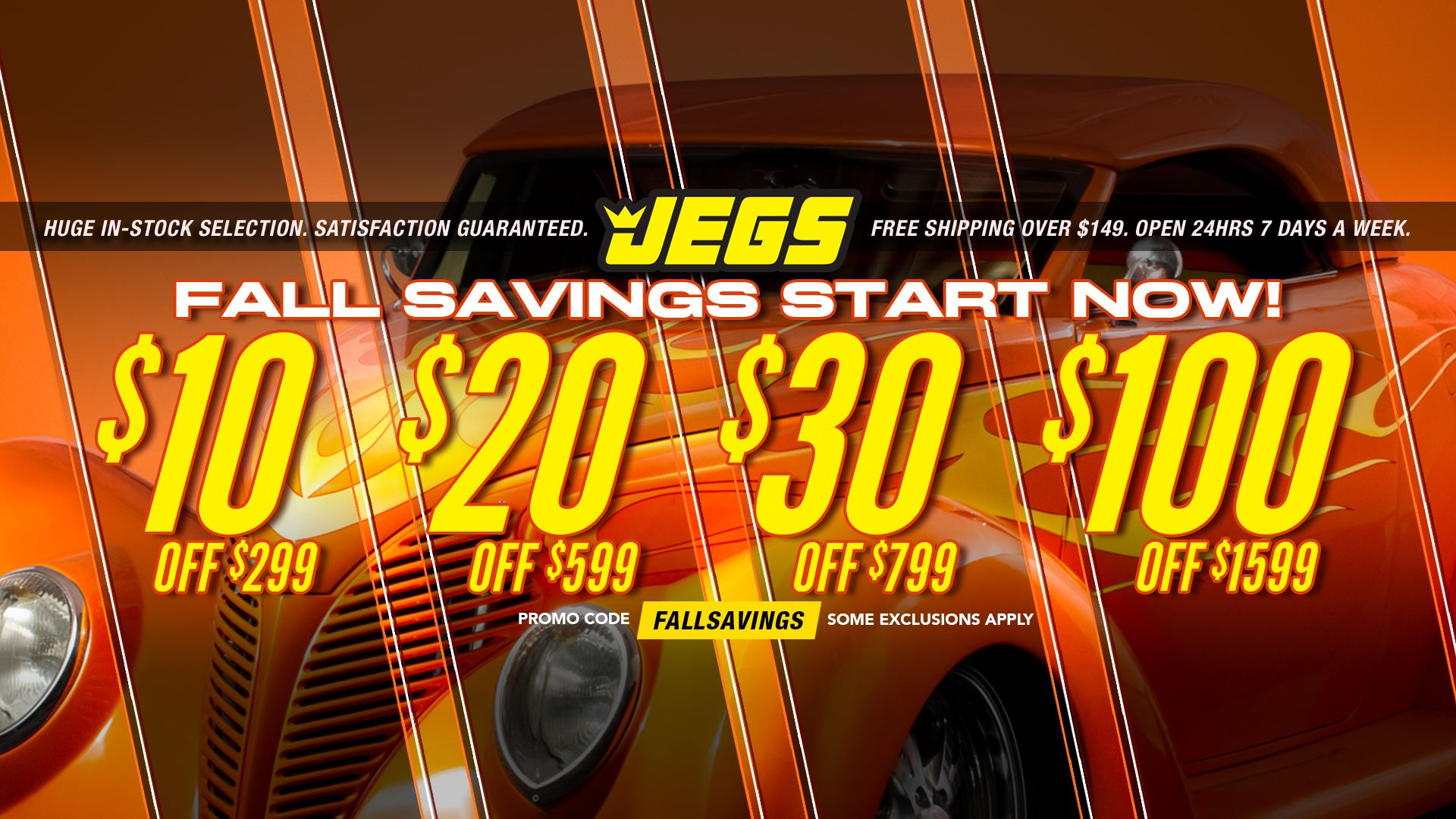 Save $10 off $299, $20 off $599, $30 off $799, $100 off $1,599 - Promo Code FALLSAVINGS