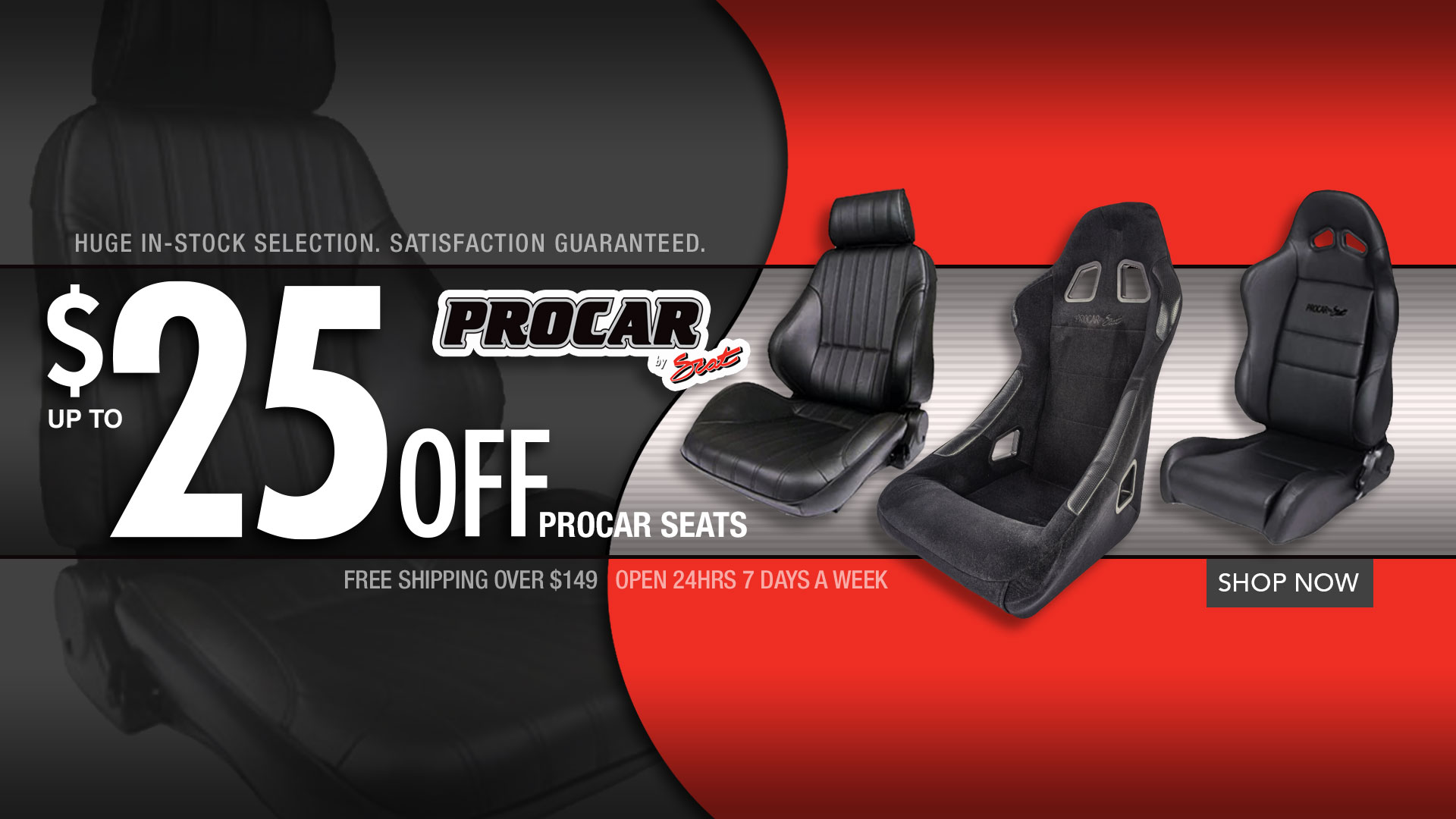 Save up to $25 Procar Seats