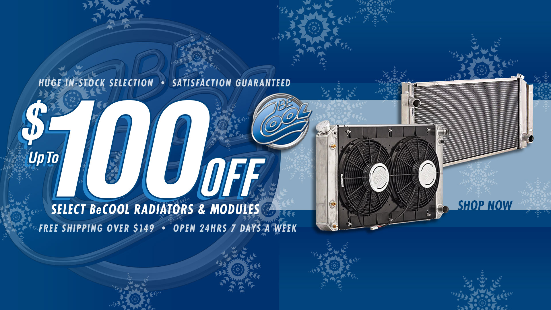 Save $50 on Be Cool Direct Fit Radiators and $100 on Direct Fit Modules