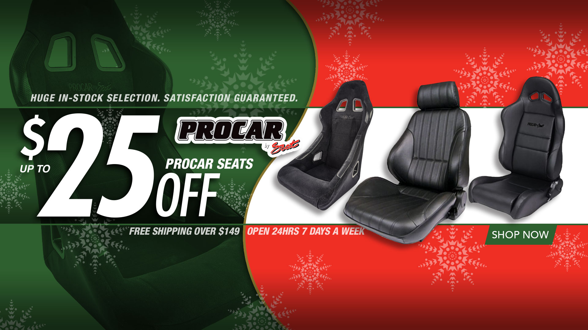 Save Up To $25 on Procar Seats