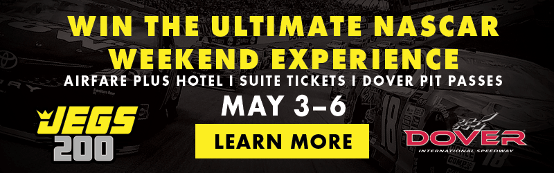 JEGS 200 Win the Ultimate NASCAR Weekend Experience May 3-6