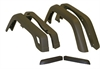 Crown Automotive 55254918K6 - Crown Automotive Factory Style Fender Flares for Jeep