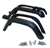 Crown Automotive 5AHK - Crown Automotive Factory Style Fender Flares for Jeep