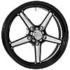Billet Specialties RSFB37456520 - Billet Specialties Street Lite Black Anodized Wheels