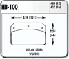 Hawk HB100J.480 - Hawk DR-97 Drag Race Brake Pads
