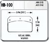 Hawk HB100N.480 - Hawk HP-Plus Performance Brake Pads