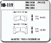 Hawk HB119W.594 - Hawk DTC-30 Circle Track Brake Pads
