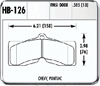 Hawk HB126F.505 - Hawk HPS Performance Brake Pads