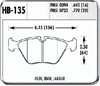Hawk HB135F.770 - Hawk High Performance Brake Pads for BMW/Mini