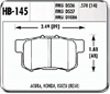 Hawk HB145N.570 - Hawk HP-Plus Performance Brake Pads