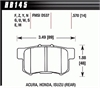 Hawk HB145W.570 - Hawk DTC-30 Circle Track Brake Pads