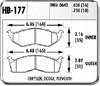 Hawk HB177N.630 - Hawk HP-Plus Performance Brake Pads