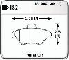 Hawk HB182N.660 - Hawk HP-Plus Performance Brake Pads