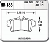 Hawk HB183F.660 - Hawk HPS Performance Brake Pads