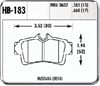 Hawk HB183N.660 - Hawk HP-Plus Performance Brake Pads