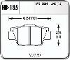 Hawk HB185N.590 - Hawk HP-Plus Performance Brake Pads